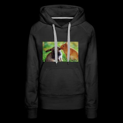 Zwilling kaninchen T-shirt - Frauen Premium Hoodie