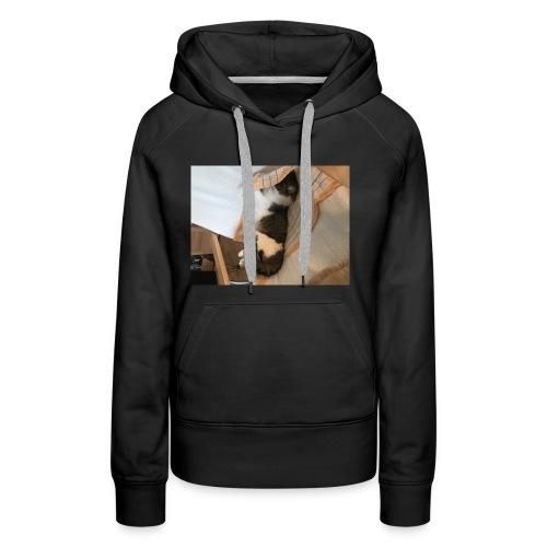 Die Katze entspannt - Frauen Premium Hoodie