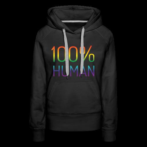 100% Human in regenboog kleuren - Vrouwen Premium hoodie