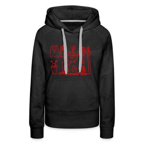 monsters-rood - Vrouwen Premium hoodie
