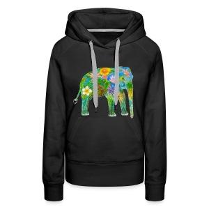 Asiatischer Elefant - Frauen Premium Hoodie