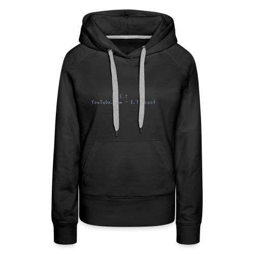 E.T scoot - Sweat-shirt à capuche Premium pour femmes