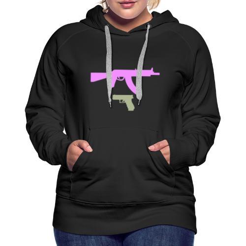 PINK GUN - Bluza damska Premium z kapturem