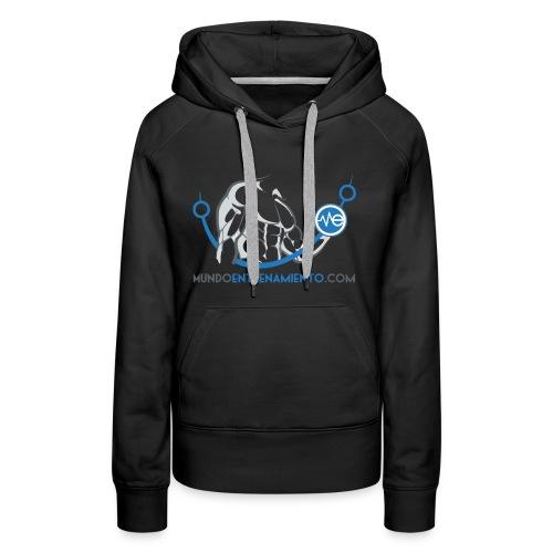Camiseta de deporte MundoEntrenamiento.com - Sudadera con capucha premium para mujer