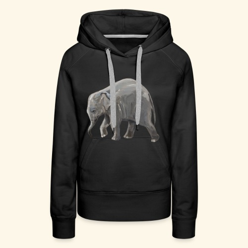 Baby elephant on a Mission - Women's Premium Hoodie