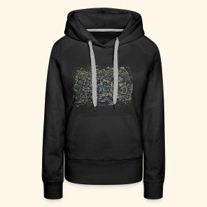 Street Art hypnotique - Sweat-shirt à capuche Premium pour femmes