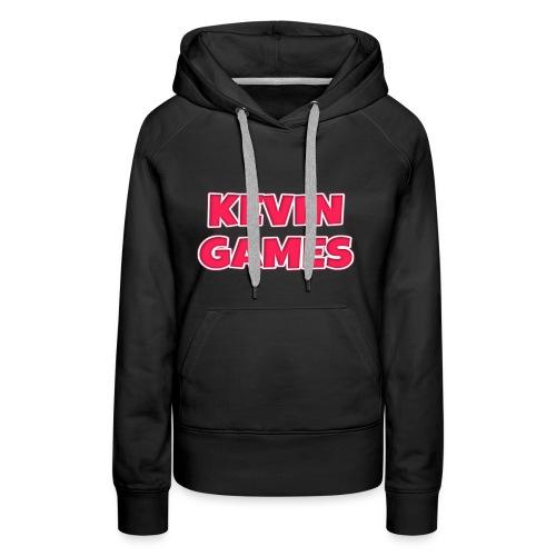 Maglietta KevinGames YouTube - Felpa con cappuccio premium da donna