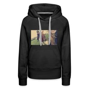 équitation entre amie - Sweat-shirt à capuche Premium pour femmes