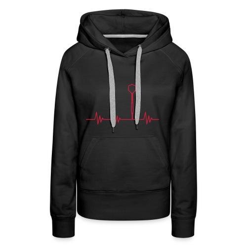 Puls Herzschlag Dart - Frauen Premium Hoodie