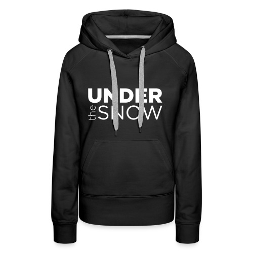 Logo Under The Snow White - Felpa con cappuccio premium da donna