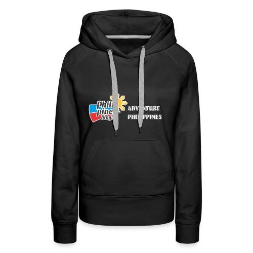 Philippinen-Blog Logo english schwarz/weiss - Frauen Premium Hoodie