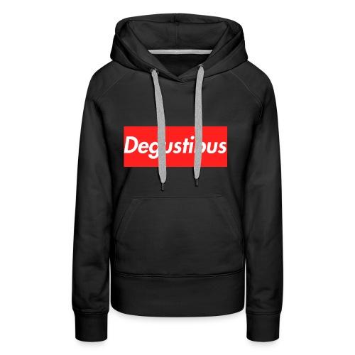 degustibus - Felpa con cappuccio premium da donna