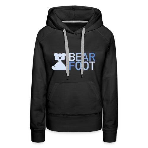 BEAR FOOT fade blue - Frauen Premium Hoodie