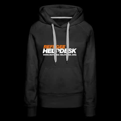 Refugee Helpdesk Logo (Bright) - Frauen Premium Hoodie