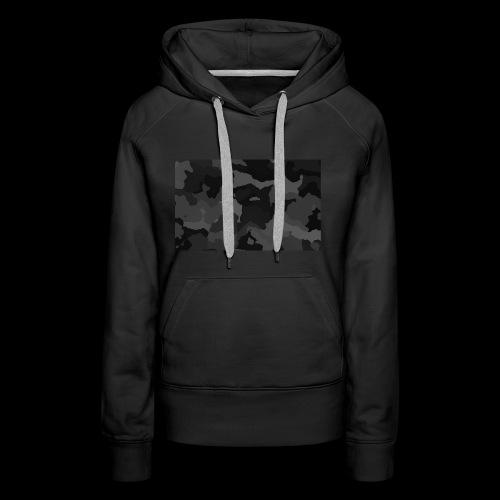 Camouflage-Black - Frauen Premium Hoodie
