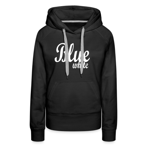 Blue White - Women's Premium Hoodie