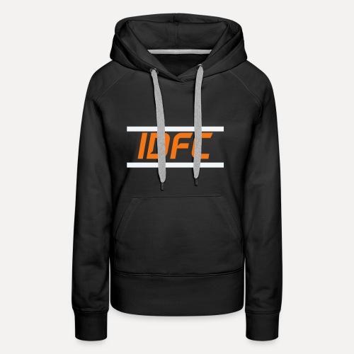 IDFC | Orange/White - Frauen Premium Hoodie