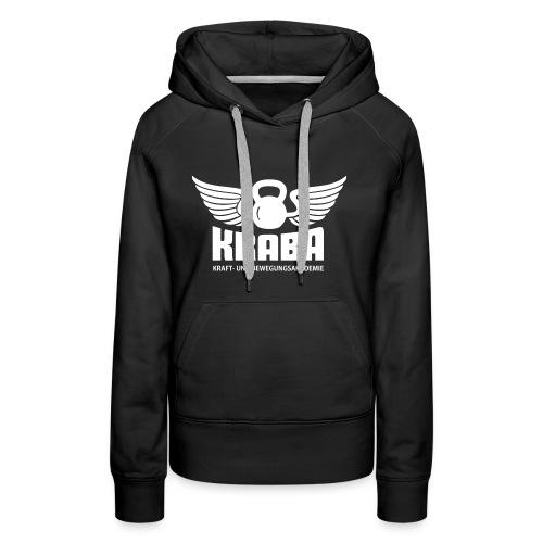 KRABA Logo weiß - Frauen Premium Hoodie