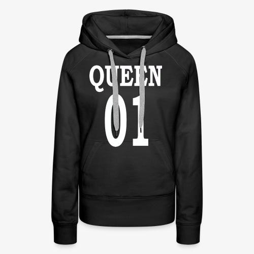 Queen01white - Frauen Premium Hoodie