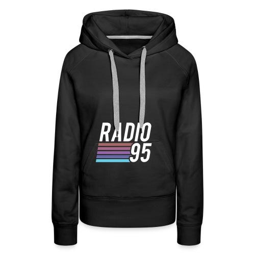 Il serbatoio superiore (Canotta) di Radio95! - Felpa con cappuccio premium da donna