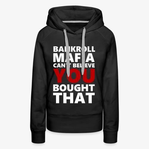 BANKROLLWHITERED - Felpa con cappuccio premium da donna