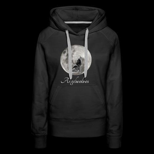 Heulender Wolf vor Mond Angelwolves - Frauen Premium Hoodie
