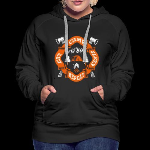 Eat Sleep Camp - Camper T-Shirt - Frauen Premium Hoodie