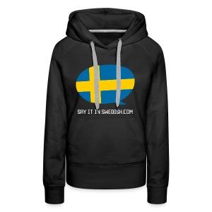Say It In Swedish - Women's Premium Hoodie