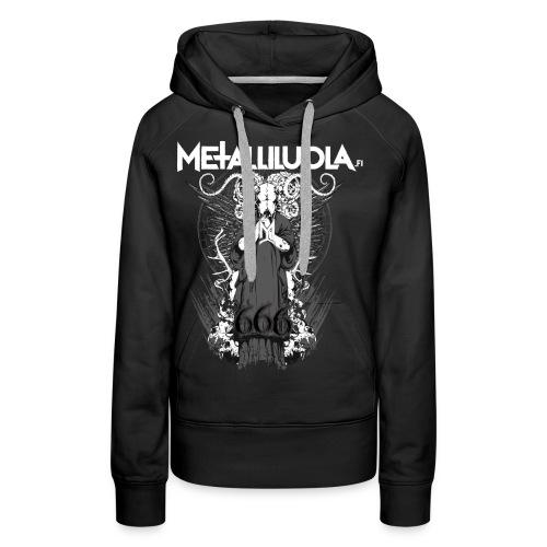 Metalliluola logo ja Demoniac 666 - Naisten premium-huppari