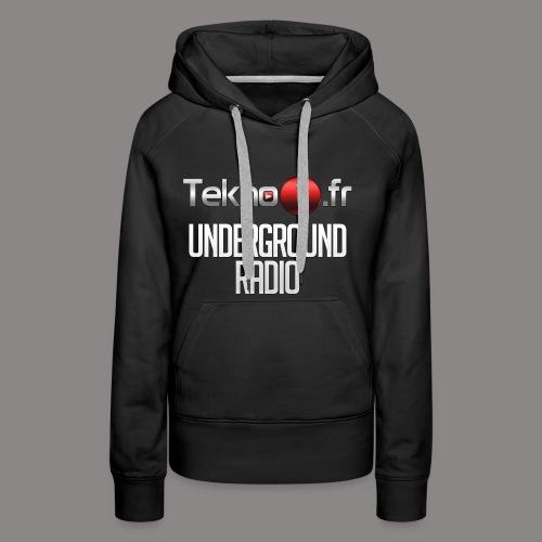 logo tekno1 2000x2000 - Sweat-shirt à capuche Premium pour femmes