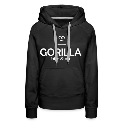 Gorilla hier & da Logo - Frauen Premium Hoodie