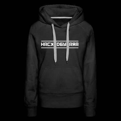 HackedByLara_Logo -Weiß- - Frauen Premium Hoodie