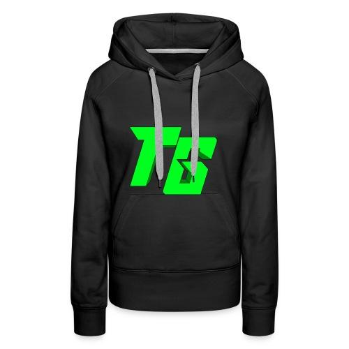 Tristan Jeux marchandises logo [LOGO BIG] - Sweat-shirt à capuche Premium pour femmes