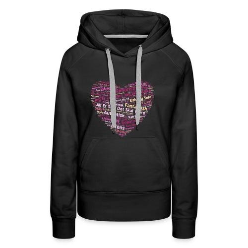 Hjerte - Dame Premium hættetrøje