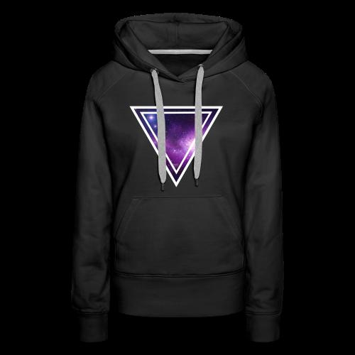 Galaxy Space Driehoek T-shirt - Vrouwen Premium hoodie