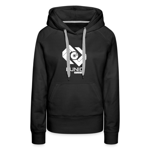 Lunic Music Logo (Weiß) - Frauen Premium Hoodie