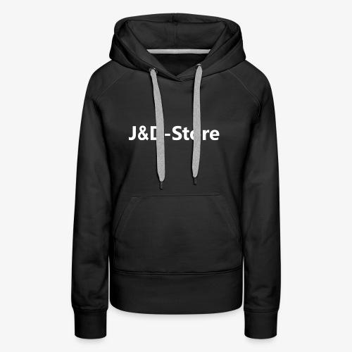 Schwarze Klamotten mit weißer J&D-Shop Schrift - Frauen Premium Hoodie