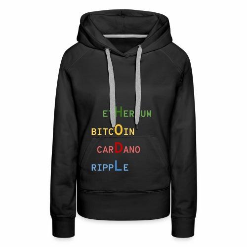 HODL color - Sweat-shirt à capuche Premium pour femmes