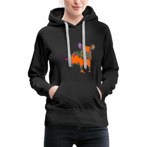 ratón - Sudadera con capucha premium para mujer