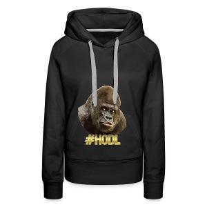 Gorilla #HODL Gold - Frauen Premium Hoodie