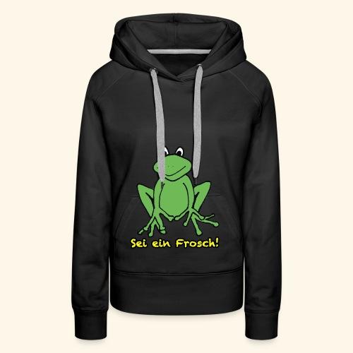 Ein kleiner grüner Frosch! - Frauen Premium Hoodie