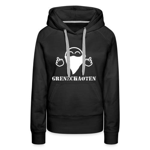 Grenzchaoten Logo Weiß - Frauen Premium Hoodie