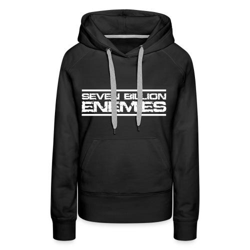 Seven Billion Enemies - BLANC - Sweat-shirt à capuche Premium pour femmes