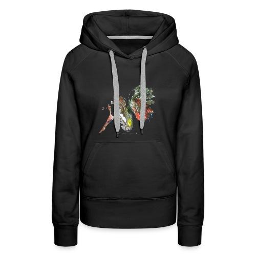 Ninfa de colores - Sudadera con capucha premium para mujer