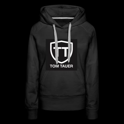 TOM TAUER Logo schwarz - Frauen Premium Hoodie
