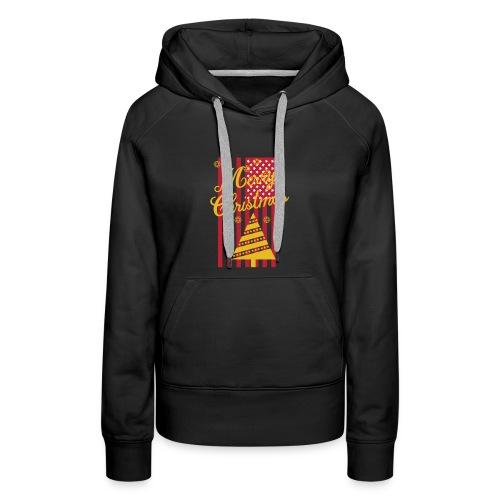 Merry Christmas USA T-Shirt - Frauen Premium Hoodie