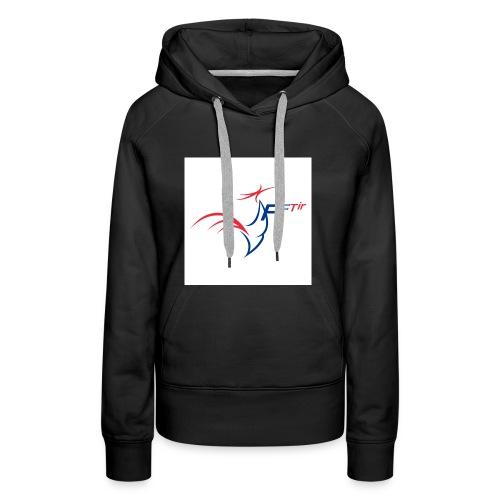 2014 logo FFT - Sweat-shirt à capuche Premium pour femmes