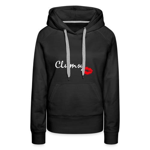 clumsy white - Frauen Premium Hoodie