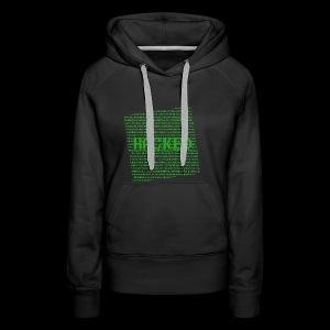 Hacked - Dame Premium hættetrøje