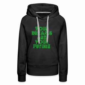 Future Clothing Slogan - Green Text - Women's Premium Hoodie